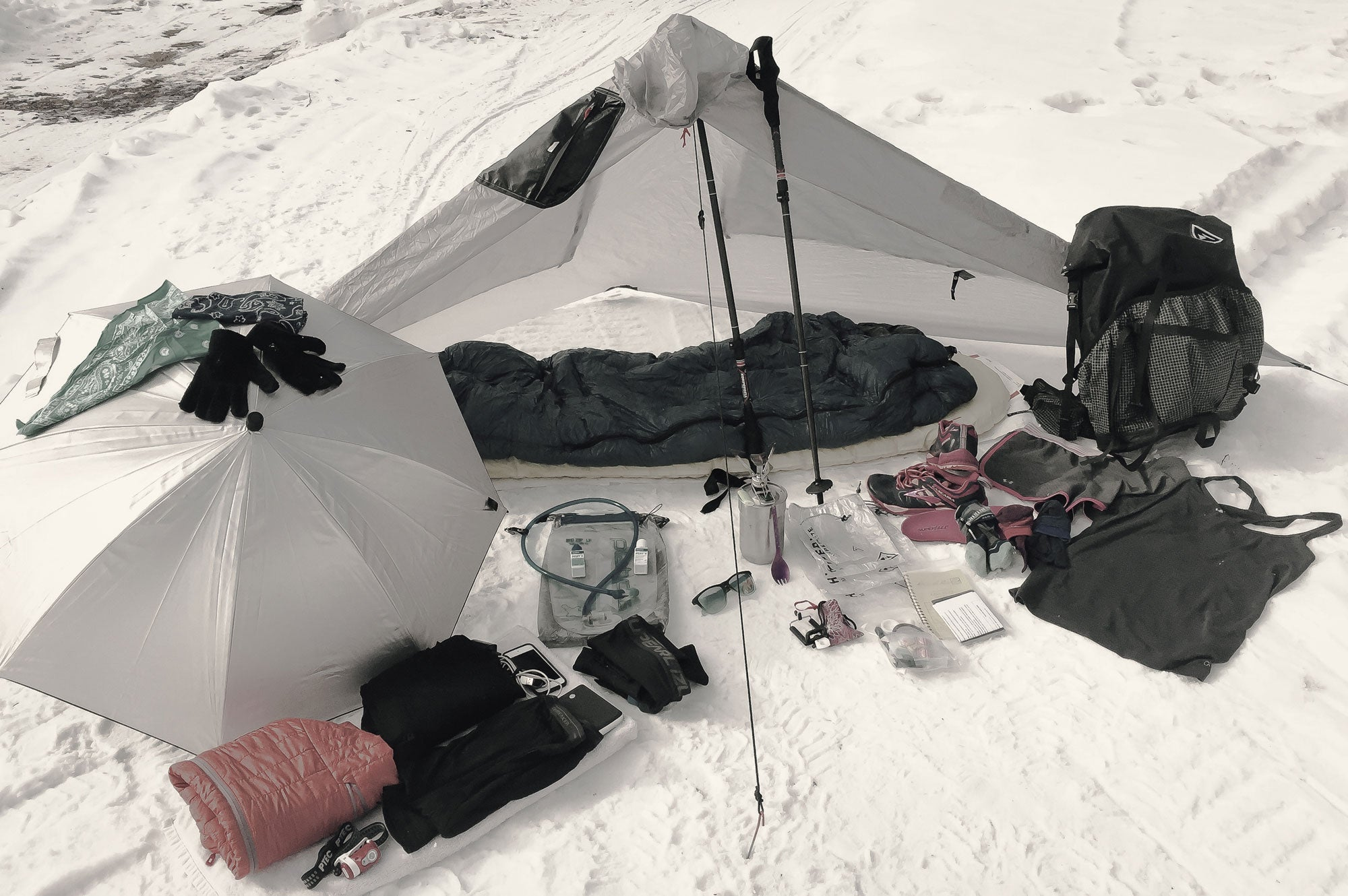 Robin Standish's ultralight PCT gear list.