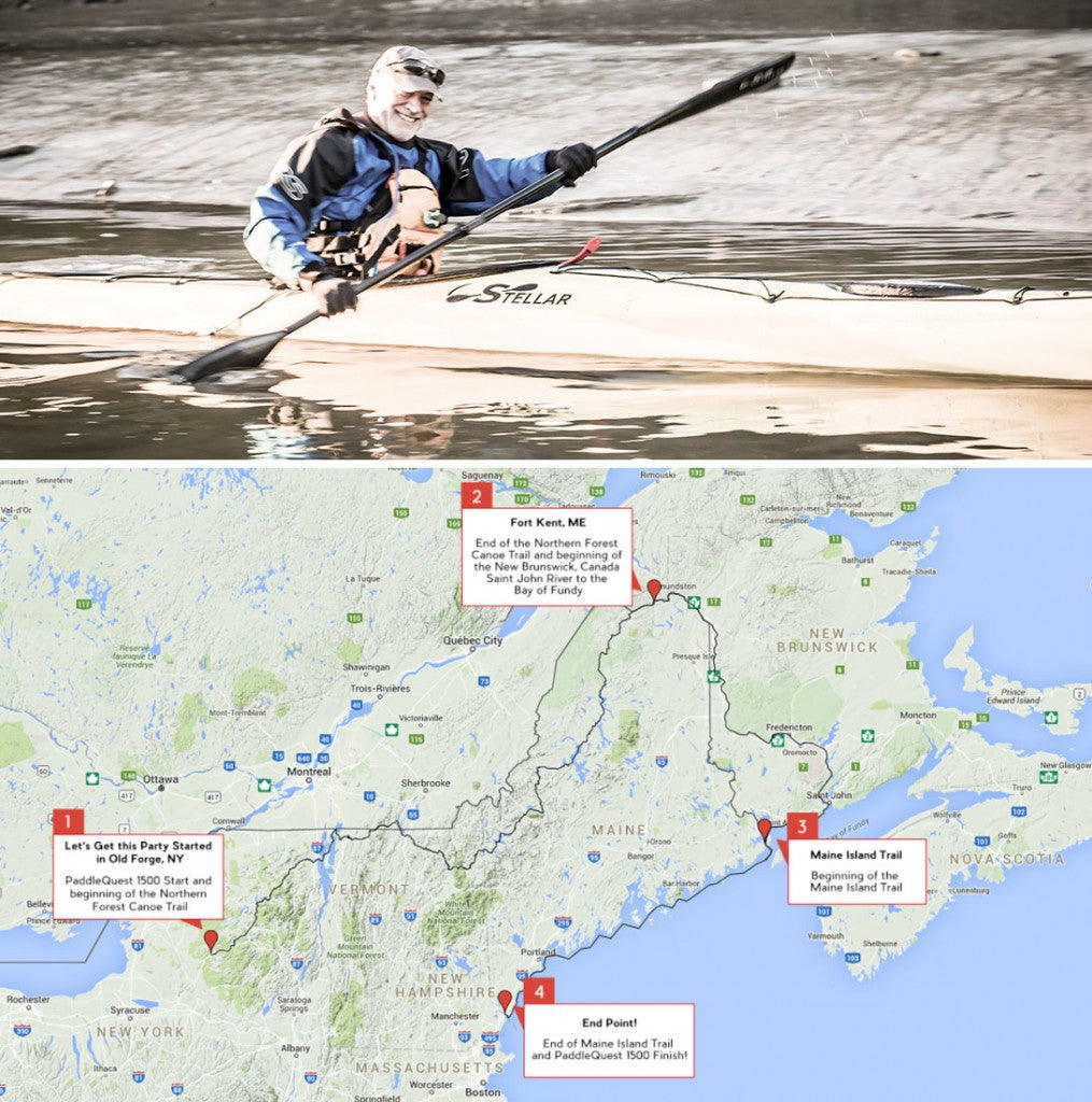 John Connelly's 75-day trip will take him through two countries and four states and over 22 streams and 58 lakes.