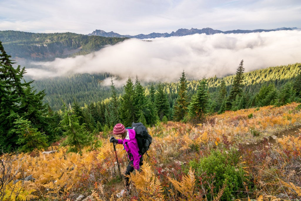 Hiking at Sawyer Mountain, Cascades. Photo: Bryan Carroll