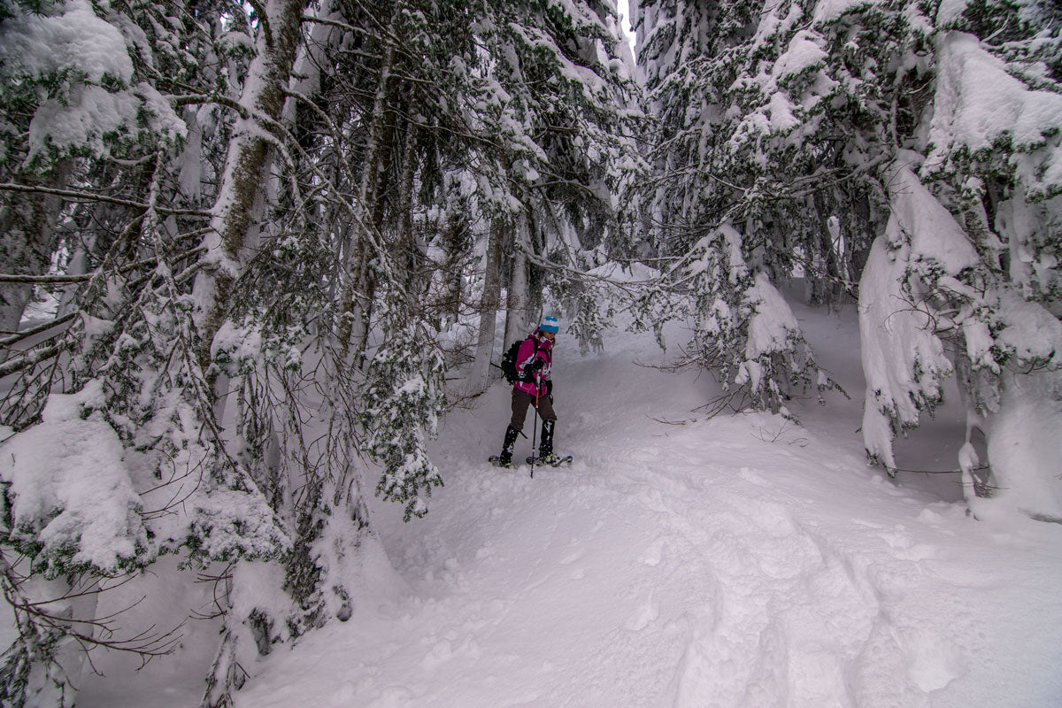 Winter backpacking in the Alpental, Snoqualmie Pass, Wash. Photo by Bryan Carroll