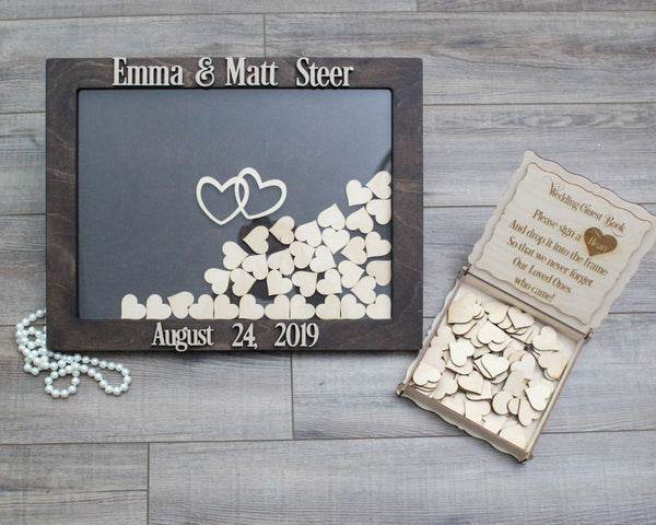 Wedding Guestbook Drop Box With Hearts To Sign
