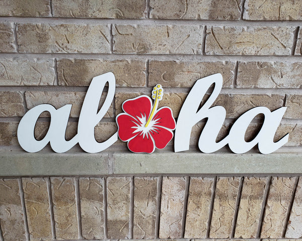 Aloha Hawaiian Greeting Sign