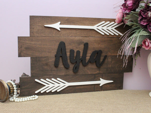 Rustic Arrow Name Pallet Sign