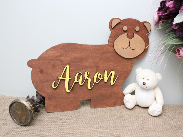Baby Bear Name Sign