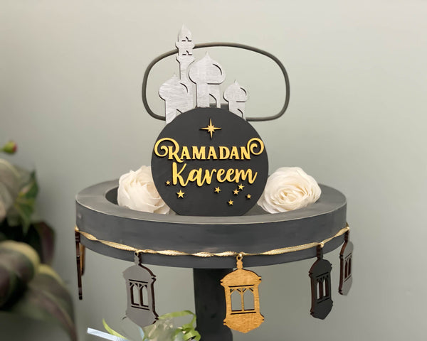 Ramadan Eid Tiered Tray Set, Islamic Decorations