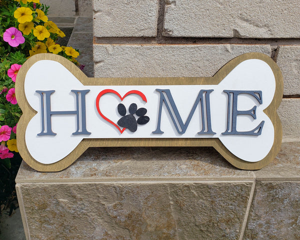 Personalized Paw Print Home Decor Sign, Dog Lover Gift