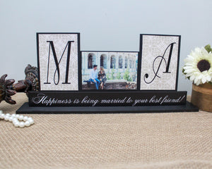 Happiness Is Being Married To Your Best Friend | Decorative Wooden Sign