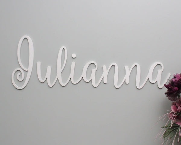 Nursery name sign in wooden letters