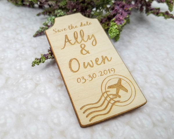 Luggage Tag Save The Date Magnet