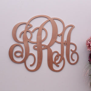 Vine Monogram with 3 letters