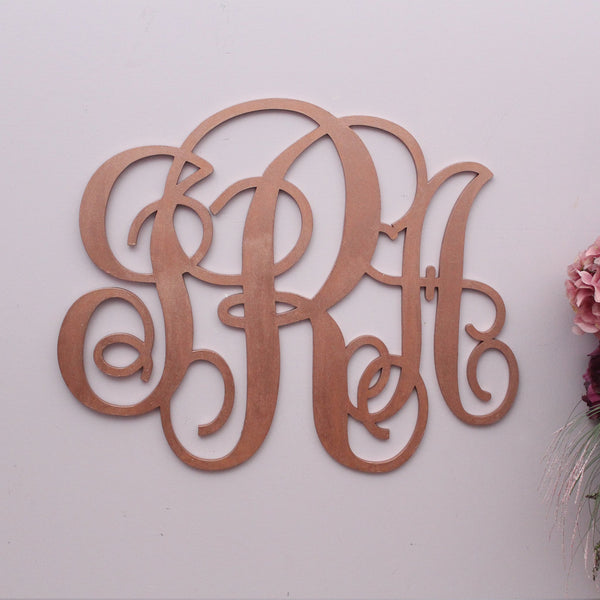 Three Letters Vine Monogram