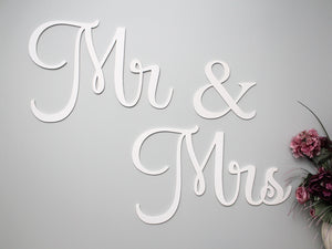 Mr & Mrs Wall Sign for wedding backdrop