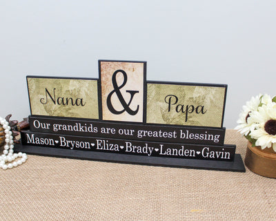 Personalized Grandparents Gift Decorative Wooden Signs