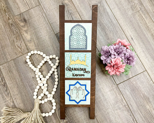 Ramadan Eid Decor, Mini Islamic Wood Signs