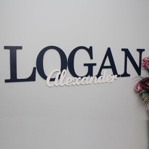 Personalized Large Capital Wooden Letters Name Sign | Wall Art Decor