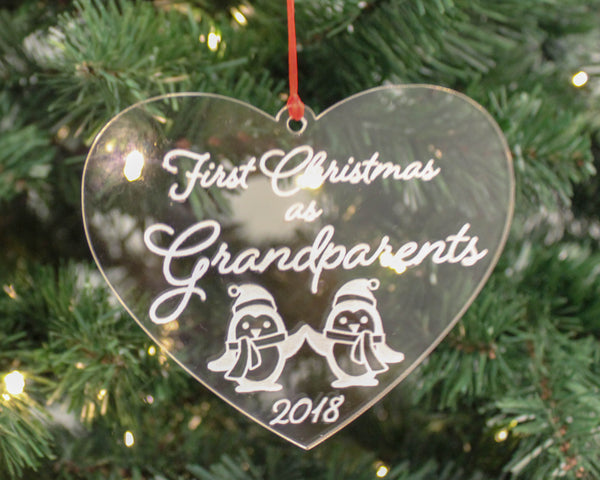 Grandparents 1st Christmas Ornament