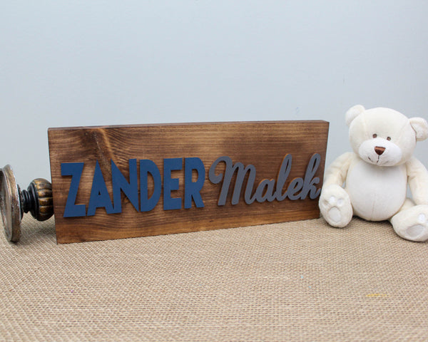 Kids Name Plaque  with first and middle name