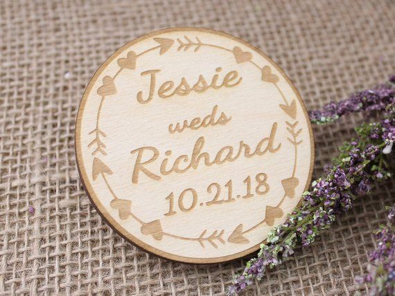 Boho Wedding Save The Date Magnet | Save The Date