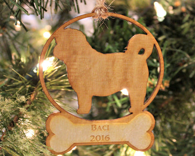 Personalized And Custom Laser Cut Pet Christmas Ornament