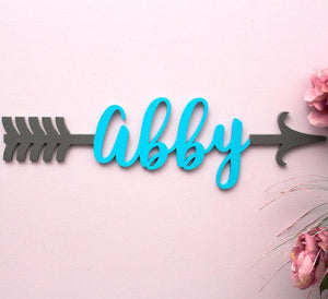 Boho arrow name sign