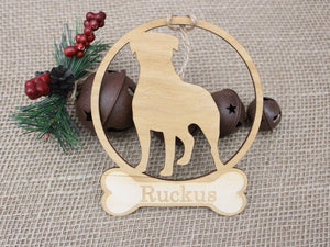 pet ornament personalized with name