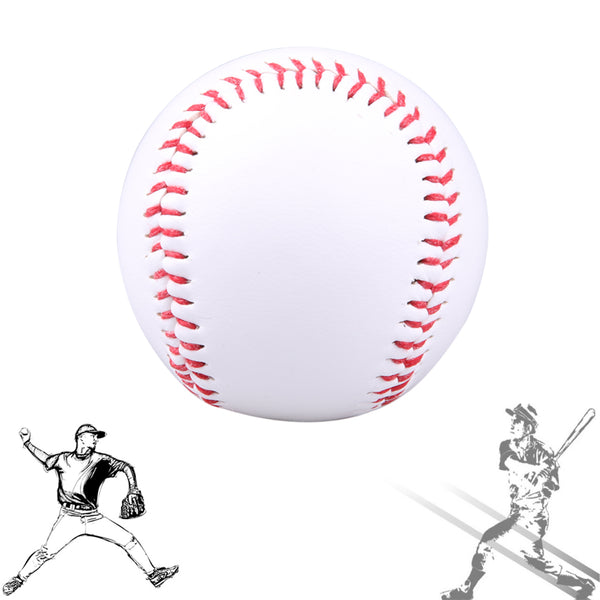 1 piece 7cm White PVC Softball Baseball Ball Handmade For Outdoor Baseball Trainer