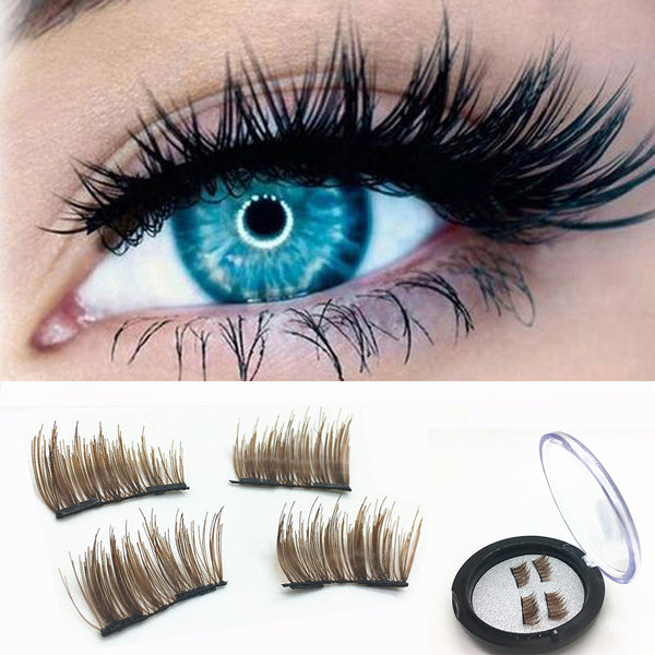 1 Pair natural false eyelashes thick makeup real 3D mink lashes eyelash
