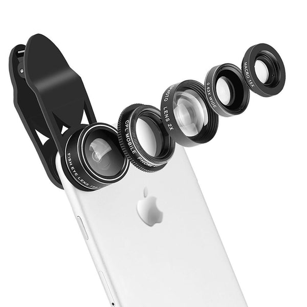 5-1 One Clip On Camera Lenses for Smartphones