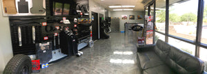In showroom we have rigid industries, toyo tires, fuel rims, raceline wheels, fuel wheel, lift kits, leveling kits, wheels and tires, apparel, utv accesories, icon shocks, king shocks, fox shocks, prerunner accessories,trailer tires and much more