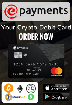 ePayments - Your Cryptpo Debit Card