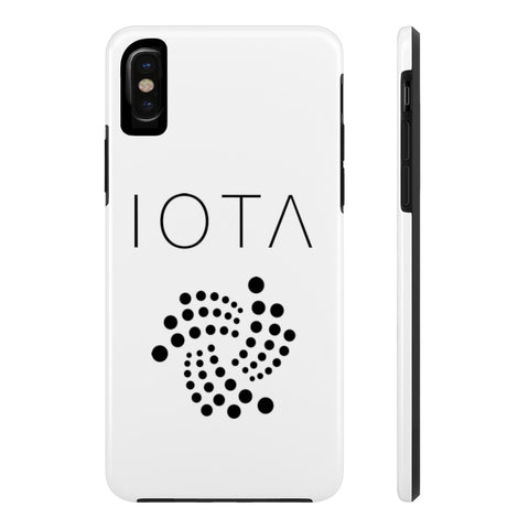 IOTA White iPhone Case - CryptoANTEG.com