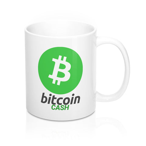 Bitcoin Cash White Coffee Mug - CryptoANTEG.com