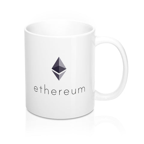 Ethereum White Coffee Mug - CryptoANTEG.com