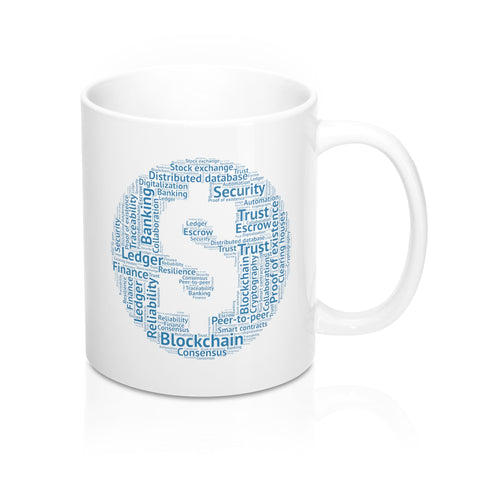 Blockchain Words White Coffee Mug - CryptoANTEG.com