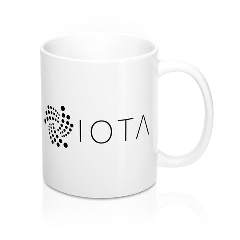 IOTA White Coffee Mug - CryptoANTEG.com