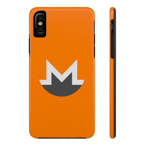 Monero Orange iPhone Case - CryptoANTEG.com