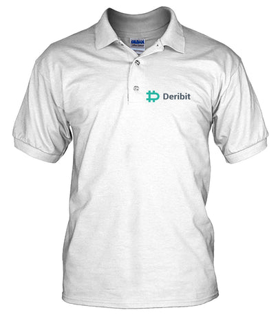 Deribit Premium men's polo T-shirt - CryptoANTEG.com
