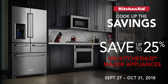Cook up the savings! Save up to 25% on kitchenaid appliances.