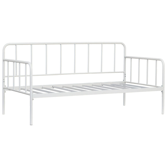 Trentlore Twin Metal Day Bed w/Platform - White