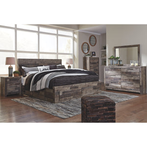 Derekson 9 Piece Queen Storage Bedroom Set w/Chest - Multi-Grey