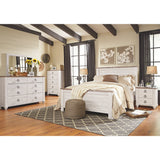 Willowton 8 Piece Queen Bedroom Set w/Chest - Two-Tone