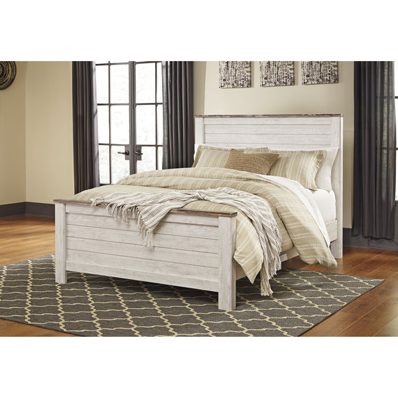 Willowton Queen Panel Bed - Whitewash