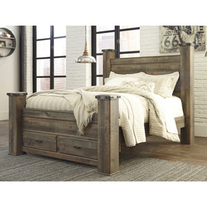 Trinell 7 Piece King Poster Storage Bedroom Set - Brown