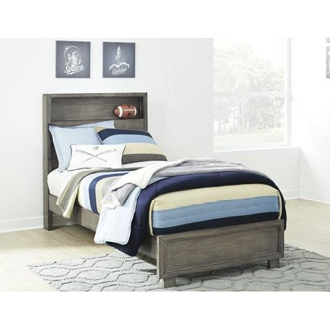 Arnett Twin Bookcase Bed - Grey