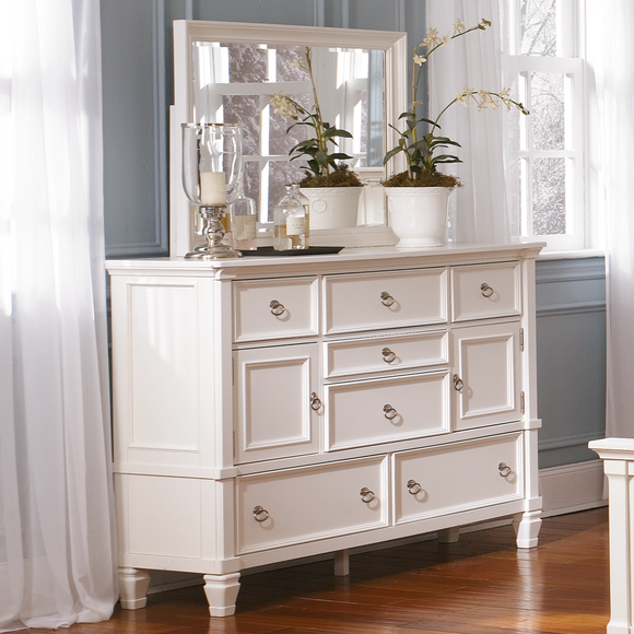 Prentice Bedroom Mirror - White