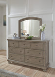 Lettner 6 Piece King Bedroom Set - Light Grey