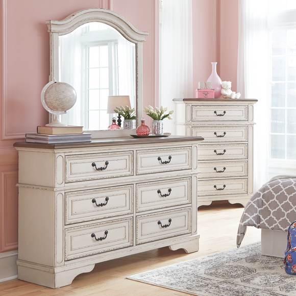 Realyn Youth Dresser & Youth Mirror - Two-Tone