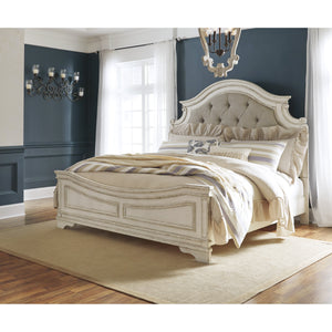 Realyn 6 Piece Queen Bedroom Set w/Chest - Chipped White