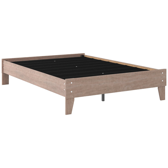 Flannia Full Platform Bed - Grey