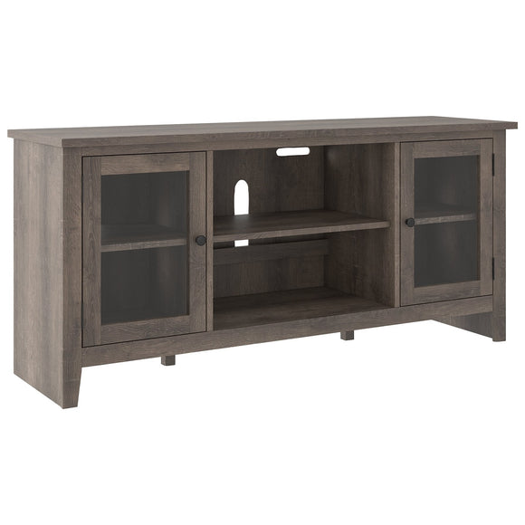 Arlenbry Large TV Stand w/Fireplace Option - Grey